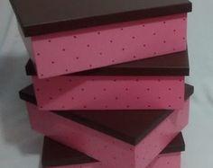 Kit de Caixas Organizadoras Baby Rosa