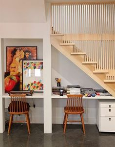 A roundup by Rachel Faucett of 15 inventive uses for that otherwise wasted space under the stairs!