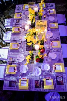 Adult tables at the #newyork inspired bar mitzvah #linzievent #centerpieces #florals