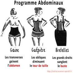 programme abdominaux , sangle , guepiere , bretelles