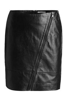 Esprit / Měkká mini sukně z kůže nappa