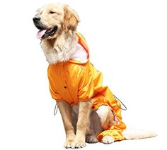 OSPet Summer Comfort Breathable Waterproof Four Feet Raincoat For Large Dog *** You can find out more details at the link of the image.