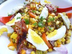 bonjour les momozamis! hier j'ai testé la recette de Zazaonestar pour cuire les lentilles pour en faire une salade. la salade de lentilles c'est mon petit plat rapide et complet pour les soirs où j'ai