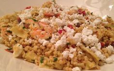 Fast and Easy Dinner—Israeli Couscous With Shrimp, Artichokes and Feta