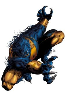 Beast by Mike Deodato Jr. and Rain Beredo Comics Anime, Marvel Comics Art, Marvel Dc Comics, Marvel Heroes, Captain Marvel, Univers Marvel, Marvel Comic Character, Marvel Characters, Fictional Characters