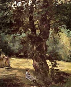 Gustave Caillebotte — Woman Seated Beneath a Tree, Gustave...