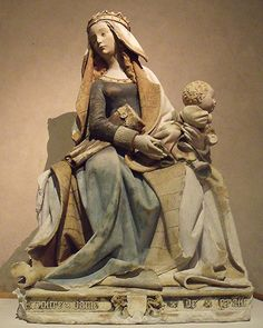 Our Lady of Grasse by the Master of Rieux, Displayed in the Museum of the Augustines in Toulouse Toulouse, Statues, Renaissance, Blessed Virgin Mary, Stone Sculpture, Angels And Demons, Sacred Art, Roman Catholic, Our Lady
