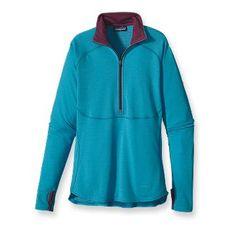 Patagonia Women's Capilene® 4 Expedition Weight Zip-Neck-Rubellite Pink, Black, Nickel, & Curacao