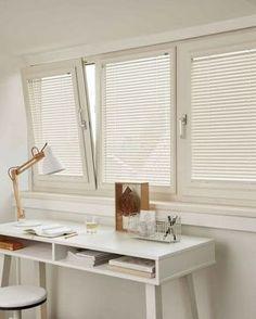 Furniture Haul Away Decor, Modern Windows And Doors, Bedroom Curtains With Blinds, Interior, Office Desk Designs, Window Decor, House Interior, Closet Decor, Toilet Design