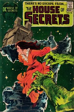 Classic cover by Neal Adams to The House of Secrets published by DC Comics, February-March Sci Fi Comics, Old Comics, Horror Comics, Vintage Comics, Creepy Comics, Marvel Comic Books, Comic Books Art, Comic Book Artists, Comic Artist