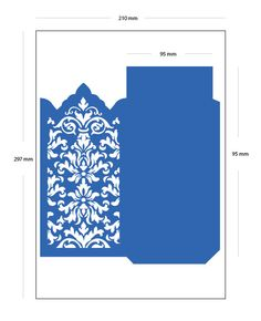 digital .SVG file DAMASK wedding invitation ENVELOPE laser