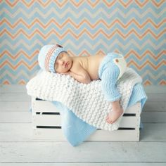Baby Newborn Photography Props Costume Hand Crochet Knit Infant Beanie Hat And…