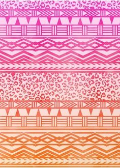 Ombre Aztec phone wallpaper