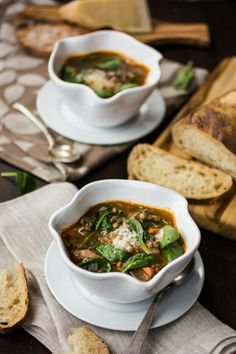 The Bojon Gourmet: French Lentil and Spinach Soup. Stupid healthy, and so good!