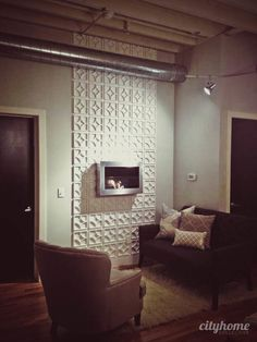 Modern mantle using textured biodegradable wall panels