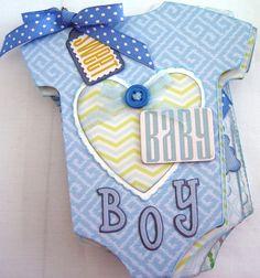 Baby Boy Onsie Mini Photo Album or Scrapbook