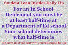 For more daily tips visit www.studentloaninsider.org for more information on your student loans about taxes, enrollment, repayment and more!