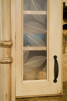 Providence Alder Saffron Villa Iii Lumicor Natural Leaves Acrylic Insert Bellmont Cabinet Co
