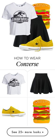 """""""Untitled #423"""" by rainbowsnowcone on Polyvore featuring New Look and Converse"""