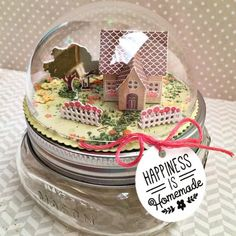 Happiness Is Homemade Jar Topper by Heather Nichols for Papertrey Ink (January 2016)