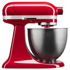 Now the popular Empire Red shade comes in an Artisan Mini Mixer. Great mixer for smaller kitchens. Still has a lot of power too!