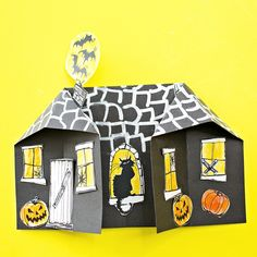 hello, Wonderful - 3D SPOOKY PAPER HAUNTED HOUSE CRAFT