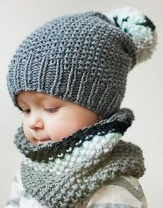 Knitting Pattern For Baby Hat And Scarf : 1000+ ideas about Knit Baby Hats on Pinterest Hand Knitting, Knitting and B...