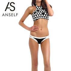 Suit up in this #bikini set featuring chic geometric pattern, self-tie halter neck, clip clasp closure on back, cup padding and bikini bottom with symmetrical cut-out design. Great to mix and match any way you're feeling. Come and pick one! http://www.tomtop.cc/3aQZvu