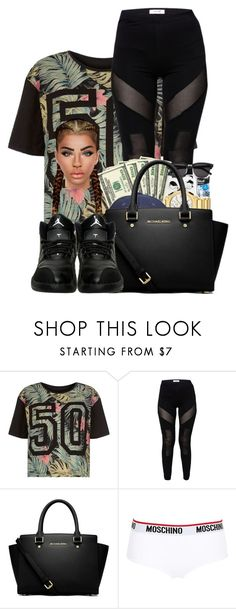 """""""♡♡♡♡♡♡"""" by ballislife ❤ liked on Polyvore featuring MICHAEL Michael Kors and Moschino"""