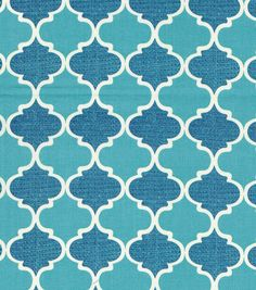 sku# 14893507 Joann's Keepsake Calico™ Cotton Fabric-Dawn Geo Blue