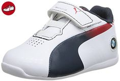 Puma Evospeed Lo Bmw 1-3 Kid Bl, Baby Jungen Sneakers, Weiß (white/bmw Team Blue/red), 30 (*Partner-Link)