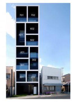 Wonderful The Seven Storey Apartment Block In Katayama By Mitsutomo Matsunami  Architect And Associates; Photo By Mitsutomo Matsunami