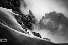 Dark Alpine Backcountry by Christoph Oberschneider on Ski Touring, Mount Everest, Skiing, My Photos, Landscapes, Mountains, Photo And Video, Dark, Instagram