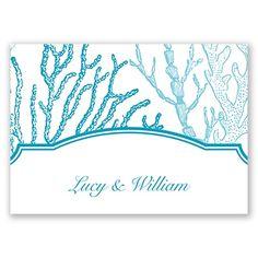 Under the Sea Thank You Card and Envelope by David's Bridal. #weddinginvitation #beachwedding