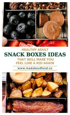 Looking for easy Adult Lunch Ideas? These wholesome lunches are perfect for work and busy days on the go. Real food you can throw together in a few minutes! Snack Boxes Healthy, Veggie Snacks, Savory Snacks, Healthy Meal Prep, Healthy Food, Whole 30 Snacks, Snacks For Work, Real Food Recipes, Snack Recipes