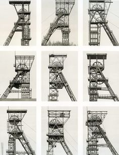 Bernd and Hilla Becher, born in the dedicated their life to creating a visual taxonomy of the world's industrial structures. Industrial Photography, Contemporary Photography, Landscape Photography, Contemporary Art, History Of Photography, Art Photography, Bernd Und Hilla Becher, Fotografia Macro, Quelques Photos