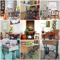 60 Ideas to recycle your old sewing machine tables.