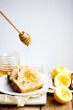 Coconut & Lemon Bread with Salted Honey Butter