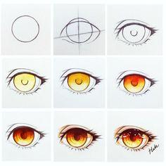 "11.5k Likes, 49 Comments - HutaChan (@hutachan96) on Instagram: ""Eye !!! fire #art #tutorial #stepbystep"""
