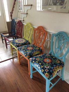 Traditional Bernhardt chairs painted with Annie Sloan chalk paint