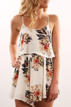 All We Know Playsuit White