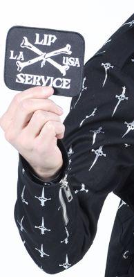 "LIP SERVICE 25 Years ""LS Crossbones"" patch #99-9-22"