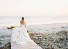 Ethereal sunset bridal shoot on Kiawah Island via Magnolia Rouge