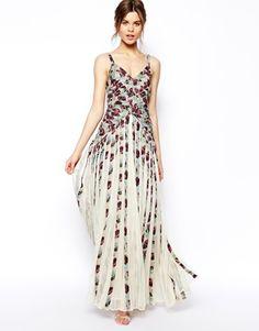 Floral Stripe Maxi Dress- ASOS USA- stunning
