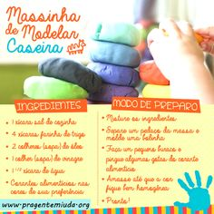 Pra Gente Miúda: 10 receitas fáceis para fazer com as crianças Baby Play, Baby Kids, Organize Life, Diy For Kids, Crafts For Kids, Baby Education, Diy Toys, My Baby Girl, Kids And Parenting