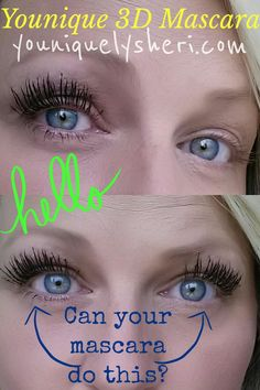 "Younique Moodstruck 3D Fiber Lash Mascara!  Check out my results!  Transform your lashes from ""okay"" to ""oh, wow!"""