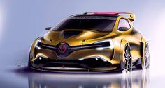 Renault Clio RS by Maxime Prevoteaux Clio Williams, Clio Sport, Megane Rs, Volvo Cars, Truck Design, Car Sketch, Automotive Design, Auto Design, Transportation Design