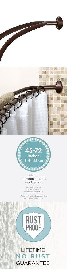 Shower Curtain Rods 168132: Adjustable Expandable Curved Shower Curtain Rod  Aluminum Chrome 45 To 72 Inch  U003e BUY IT NOW ONLY: $45.66 On EBay!