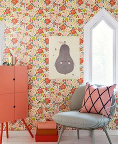 Morgana   Papier peint floral   Motifs du papier peint   Papier peint des années 70