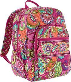 Vera Bradley Campus Backpack Pink Swirls - via eBags.com!